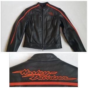 Harley Davidson moto leather jacket removable S